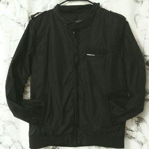 🔥members only black bomber zip jacket 🔥